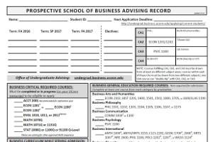 Prospective Student Advising Record